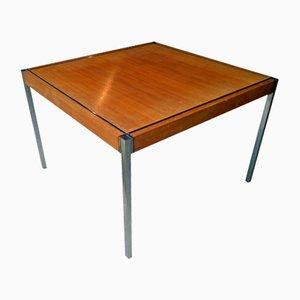 Tavolino da caffè in acciaio inox e noce di Richard Schultz per Knoll International, anni '60