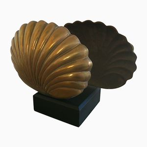Bronze Seashell Lamp, 1970s