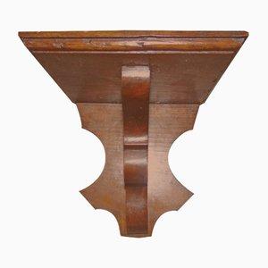 Antikes Hängeregal aus Holz