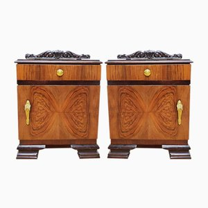 Art Deco Nightstands, 1920s, Set of 2