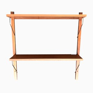 Mid-Century Floating Teak Wall Unit from PS System, 1960s