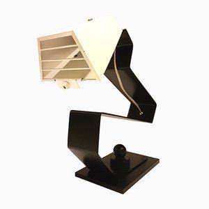 Lámpara de escritorio minimalista de metal, años 80