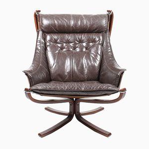 Chaise à Dossier Haut Falcon par Sigurd Ressel pour Vatne Møbler, 1960s