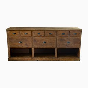 Vintage Pine Apothecary Sideboard, 1940s