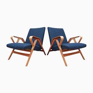 24-23 Armlehnstühle aus Bugholz von Tatra, 1950er, 2er Set