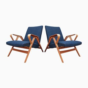 Bentwood 24-23 Armchairs from Tatra Nábytok, 1950s, Set of 2