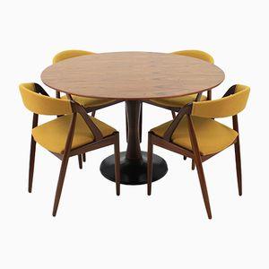 Chaises Modèle 31 et Table en Teck par Kai Kristiansen, 1960s
