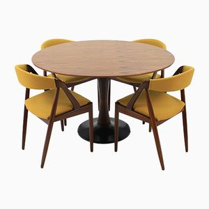 Model 31 Chairs & Teak Table by Kai Kristiansen, 1960s