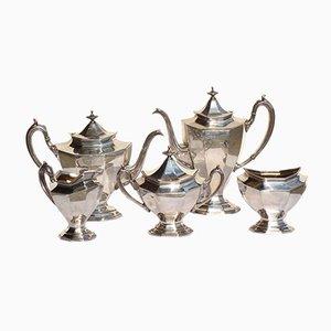 Antikes versilbertes Tee- & Kaffeeservice von Reed & Barton, 5er Set