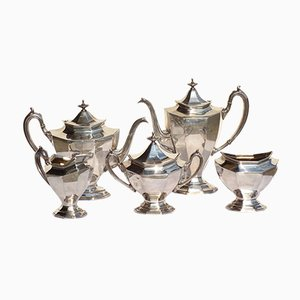 Antique Silver Plated Tea and Coffee Set from Reed & Barton, Set of 5