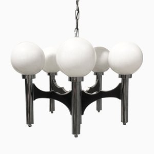 Vintage Chandelier by Gaetano Sciolori for Sciolari, 1965