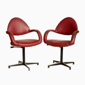 Bürostühle von Gastone Rinaldi für Rima, 1950er, 2er Set