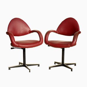 Office Chairs by Gastone Rinaldi for Rima, 1950s, Set of 2