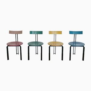 Memphis Style Dining Chairs, 1980s, Set of 4