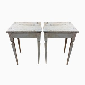 Antique Gustavian Side Tables, 1900s, Set of 2