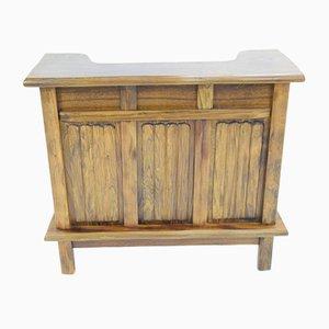 Mueble bar vintage de olmo, años 70