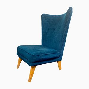 Vintage Blue Lounge Chair by Howard Keith, 1960s