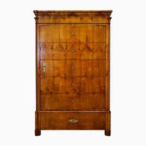 Biedermeier Cherry Veneer Wardrobe, 1830s