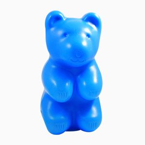 Vintage Blue Teddy Bear Night Lamp