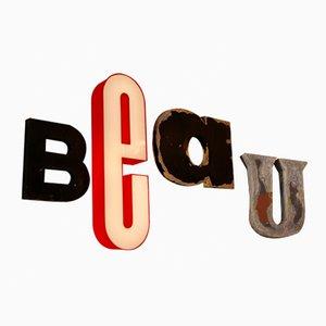 Französisches Vintage Beau Buchstabenset