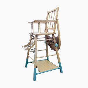 Chaise Haute Vintage avec Table Convertible