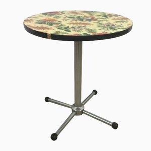 Vintage Floral Pedestal Table