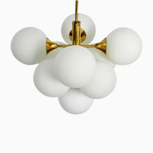 Vintage Nine-Light Ceiling Lamp from Kaiser