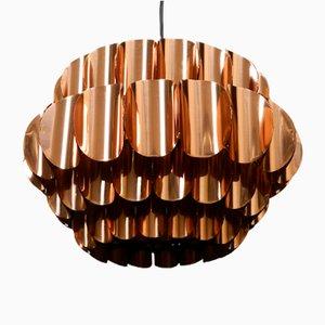 Lámpara colgante vintage grande de cobre de Temde