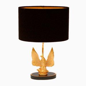 Lampada da tavolo vintage placcata in oro con aquila di Deknudt