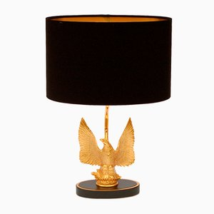 Vintage Gold-Plated Eagle Table Lamp by Deknudt