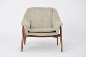 Personalisierbarer Mid-Century Sessel aus Teak, 1960er in Sandfarbe