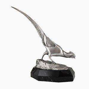 Sculpture Faisan Art Déco en Bronze par Irenée Rochard, 1925