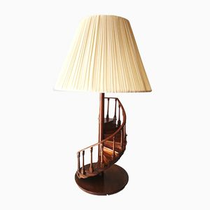Spanish Wooden Staircase Table Lamp from Hanbel, 1980s