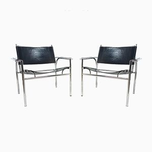 Vintage Dutch Model 4735 Lounge Chairs by Gerard Vollenbrock for Leolux, Set of 2