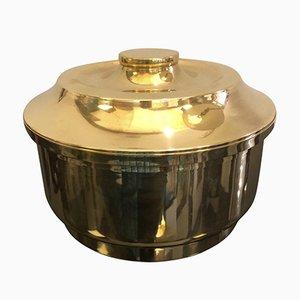 Mid-Century Italian Brass Ice Bucket, 1970s