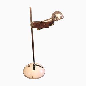 Lampada da tavolo T395 vintage in metallo di Robert Sonneman per Luci Italia, anni '70