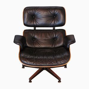 Poltrona in palissandro di Charles & Ray Eames per Herman Miller, anni '70