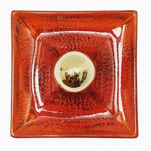 Applique in ceramica di Hustadt Leuchten, anni '60