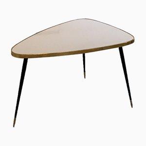 Kleiner niedriger weißer Twist Tisch von Antike Boutique