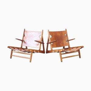 Hunting Chairs von Børge Mogensen für Erhard Rasmussen, 1950er, 2er Set