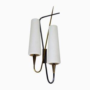 Doppel-Wandlampe von Maison Arlus, 1960er