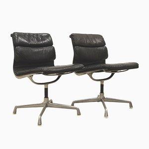 Sedia da ufficio EA206 imbottita di Charles & Ray Eames per Herman Miller, anni '70, set di 2