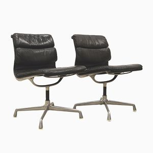Soft Pad EA206 Office Chairs by Charles & Ray Eames for Herman Miller, 1970s, Set of 2