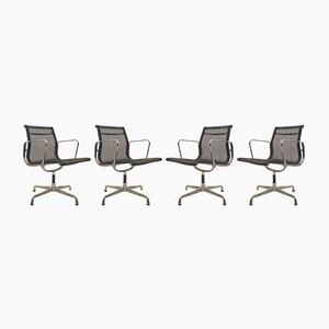 EA108 Bürostühle mit Netzgewebe von Charles & Ray Eames für Vitra, 1980er, 4er Set