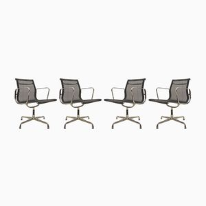 EA108 Netweave Office Chairs by Charles & Ray Eames for Vitra, 1980s, Set of 4