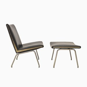 Airport CH401 Lounge Chair & Ottoman by Hans Wegner for AP Stolen, 1960s