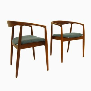 Moderne skandinavische Armlehnstühle von Kai Kristiansen, 1960er, 2er Set