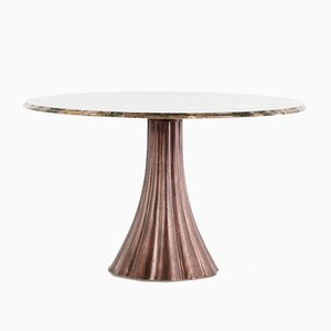 Mesa de comedor de mármol de Angelo Mangiarotti, 1968