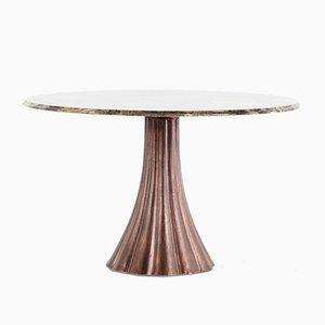 Tavolo da pranzo in marmo di Angelo Mangiarotti, 1968