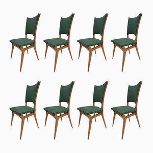 Chaises Vintage, Italie, 1960s, Set de 8